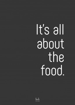 It's all about the food